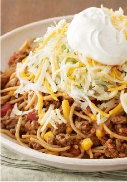 Taco Pasta Toss - A surefire dinnertime hit that's ready in just 20 minutes!