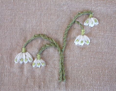 Big Little Handmade Embroidery Flowers Ribbon Embroidery Embroidery Designs