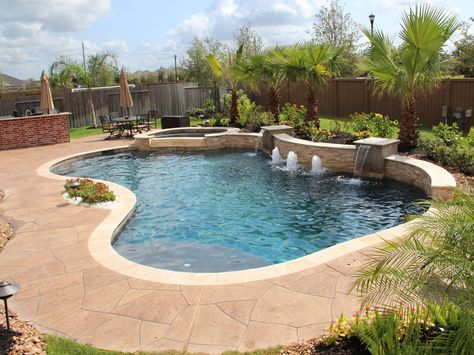 15 Remarkable Free Form Pool Designs | Pool Designs, Southern And Backyard
