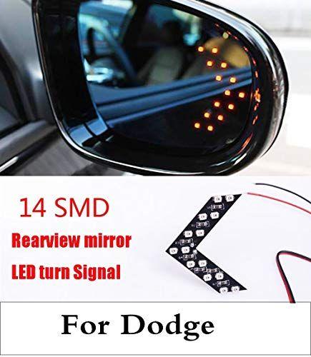 2017 14smd Led Arrow Panel Car Side Mirror Indicator Turn Signal Light For Dodge Journey Magnum Nitro Str Side Mirror Car Car Rear View Mirror Rear View Mirror