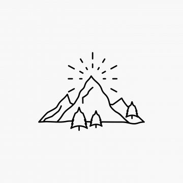Hill Landscape Nature Mountain Fireworks Line Icon Vector I Mountain Clipart Icons Converter Icons Fitness Png And Vector With Transparent Background For Fr Line Icon Hipster Icons Vector