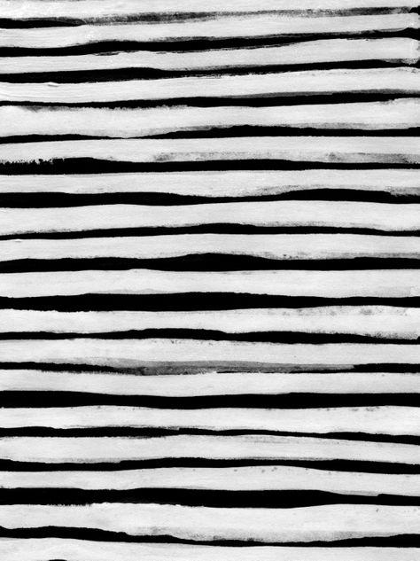 Black And White Striped Canvas