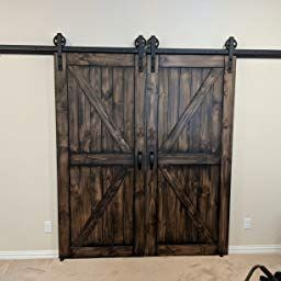 Amazon Com Customer Reviews Belleze 36 X 84 Inches Diy Sliding Barn Door Natural Wood Pine Unfinished Single Door Only Pre Drilled 3 Ft X 7 Ft Single Doors