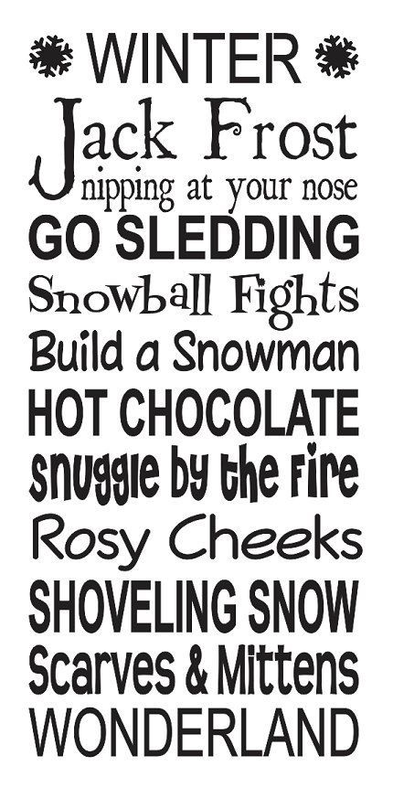 Winter Wonderland Stencil 12x24 For Painting Signs Etsy Christmas Stencils Christmas Signs Large Stencils