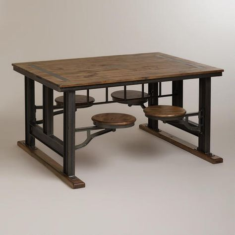 I love this table for the playroom. WorldMarket.com: Galvin Cafeteria Table