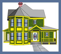 Printable House Puzzles General House Victorian Homes Old Victorian Homes Cartoon House