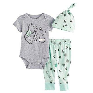 Disney Winnie The Pooh Baby Boy Girl Unisex Bodysuit Age Tiny 0 3 6 9 12 Months
