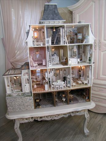 Beacon House With Basement How Friggin Cool The Mini Dollhouse Inside Though Dolls House Interiors Mini Doll House Doll House