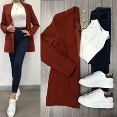 Savior Blazer Tile and High Waist Jeans ♥ ️ Lined Blazer TL . - Savior Blazer Tile and High Waist Jeans ♥ ️ Lined Blazer TL .