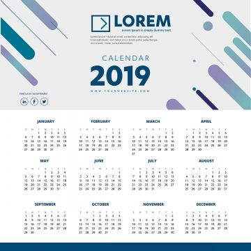 Calendar Template Design Week Vector Business Background Month Sunday Illustration Planner 2019 2020 2021 Simple Graphic Da Calendar Icon Templates Office Icon