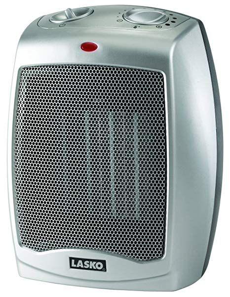 Lasko Ceramic Heater With Adjustable Thermostat Calefactor Silver 555 Termostato Termostato Inteligente Ventilador