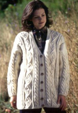 Free Aran Cardigan Knitting Pattern Aran Knitting Patterns Free