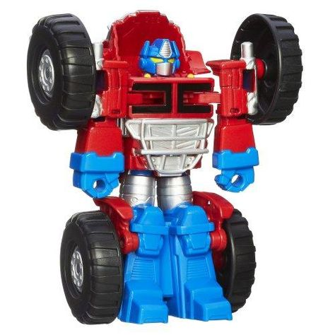 Playskool Heroes Transformers Rescue Bots Optimus Prime Figure,Blue/Red/Sliver,2.36 x 6.5 x 9.49 inches - Optimus Prime