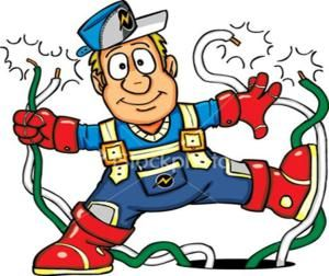 Image Result For Electrician Cartoon Image Bridge Card Cartoon Images Electrician Services
