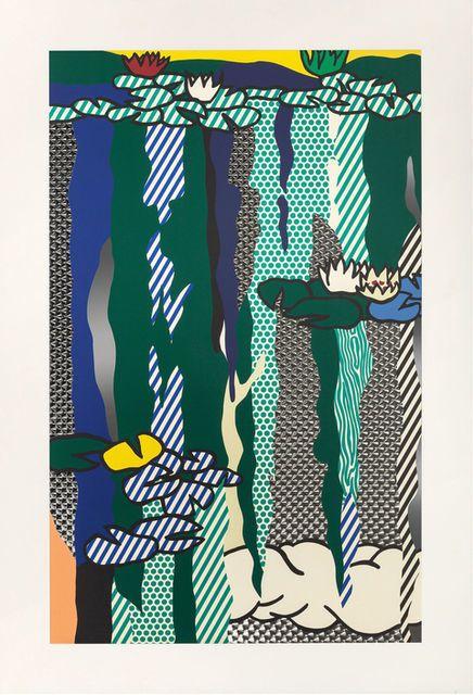 Roy Lichtenstein . water lilies with cloud, 1992