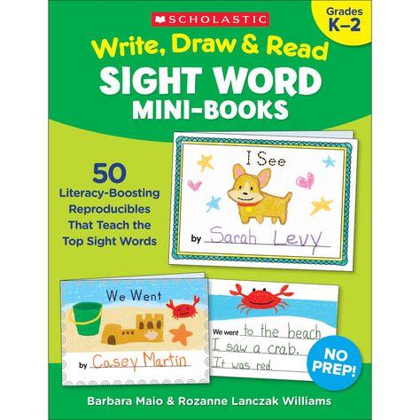 (2 Ea) Write Draw & Read Mini Books Sight Word