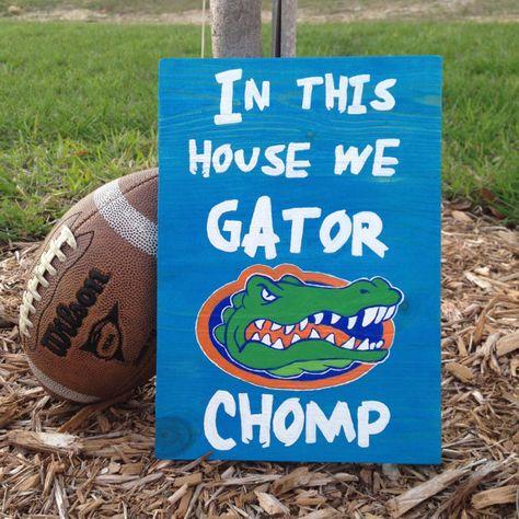 Florida Gators Wood Sign Decorative Plaques NCAA by ArtsyAutly