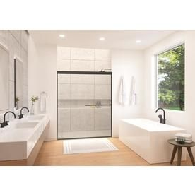 Holcam Eurolite 57 In To 60 In W Frameless Bypass Sliding Shower Door Elseorbclhs6074 Frameless Sliding Shower Doors Shower Doors