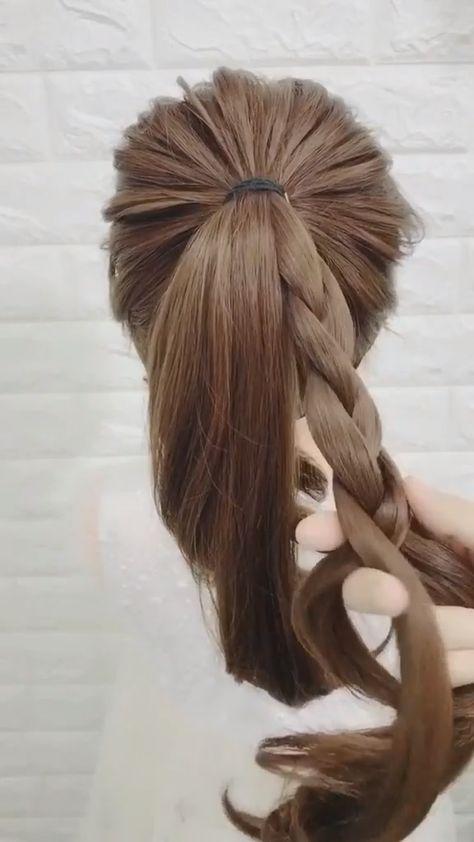 STORLIGT Flätat BUN TUTORIAL, WOW! Den här frisyren är fantastisk!...,  #Bun #Flätat #hårstil