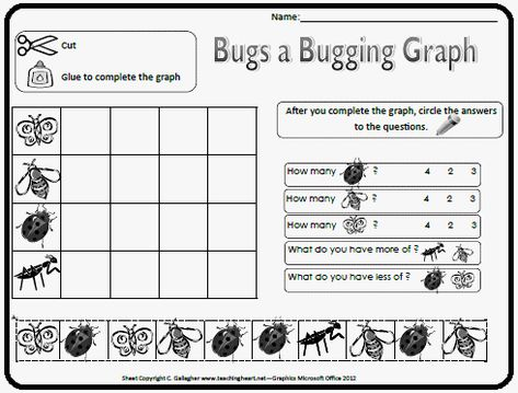 Lots of cute bug insect printables and activities