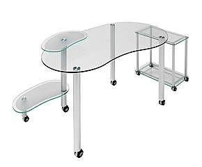 Mesa De Ordenador De Aluminio Y Cristal Web Mesas De Ordenador