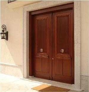Porta De Entrada Clássica De Madeira De Duas Folhas Portas De Entrada Modelos De Portas Porta Maciça
