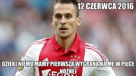 Brawo Arkadiusz Milik!!! • Dzięki niemu mamy pierwsze zwycięstwo na Mistrzostwach Europy w piłce nożnej w historii • Zobacz mem >> #pol #polska #memy #pilkanozna