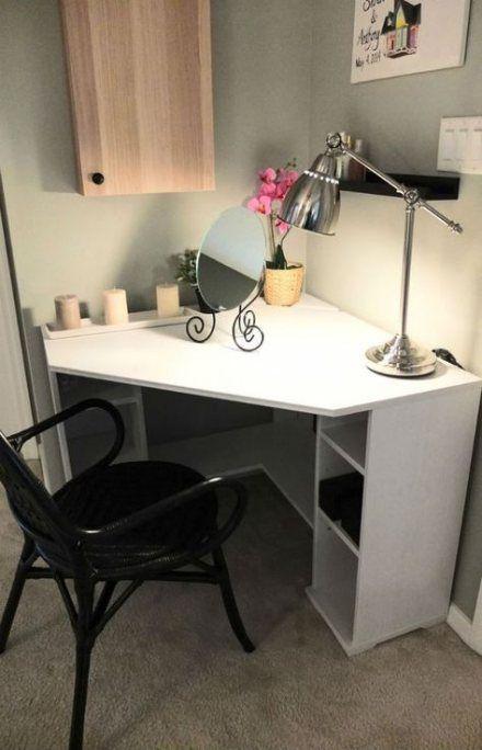 70 Ideas For Makeup Vanity Desk Paint Diy Corner Desk Bedroom Desk Small Corner Desk