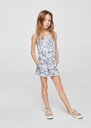 vast selection professional special price for Printed short jumpsuit - Girls | Clothes for the girls ...