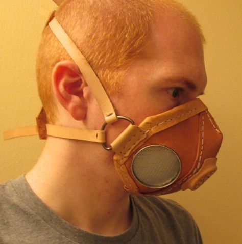 DIY Functional Leather Respirator Tutorial