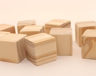 Items Similar To 1 34 Inch 45 Cm Unfinished Wood Blocks For Wood