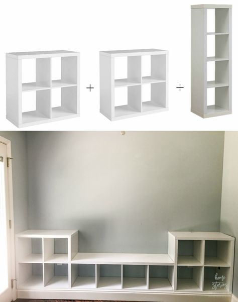 Breakfast Room Makeover: Cube Storage Hack