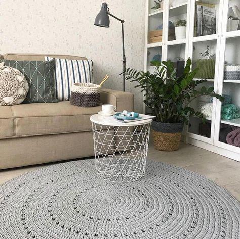 Minimalist Gray Round Rug Crochet Rug Round Area Rug Cotton Carpet Scandinavian Grey Rug Nursery Rug Round Baby Room Floor Rug In 2020 Textured Carpet Round Rugs Floor Rugs