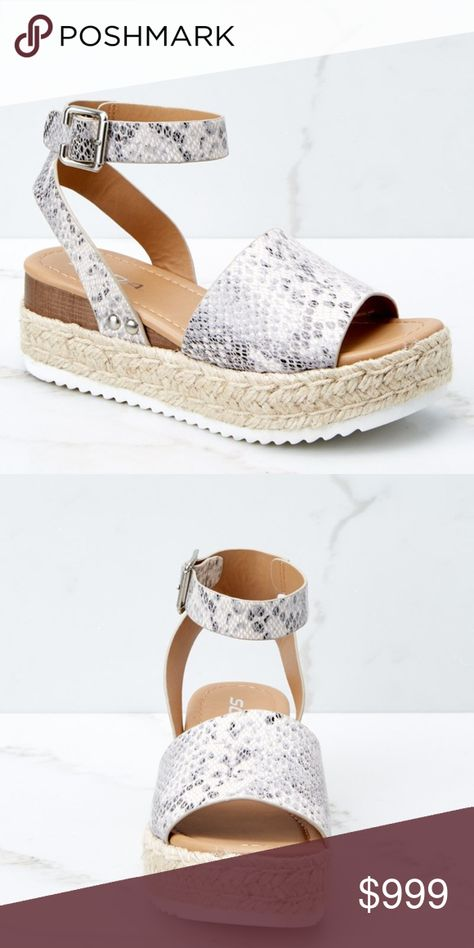 Arriving Soon!! Snakeskin Espadrille Sandals Select like to be notified & tagged when these come in! Shoes Espadrilles