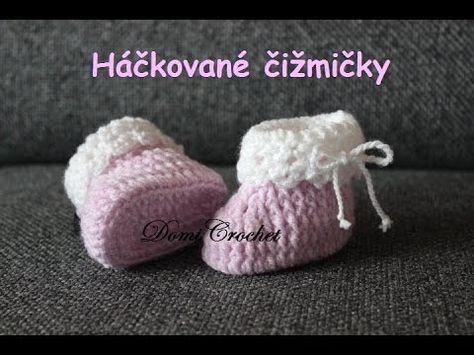 Návod na háčkované čižmičky pre detičky. Veľkosť 9-10 cm (2-6 mesiacov)…