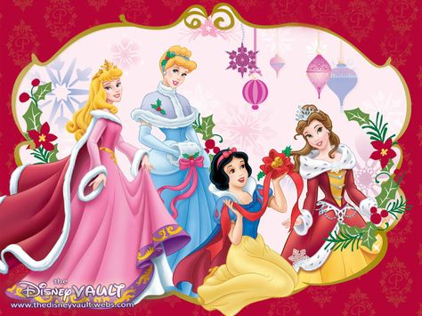 Walt Disney | Disney Princess Christmas - Walt Disney Characters Wallpaper (21174218 ...