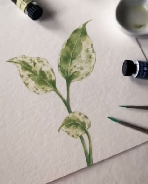 Leaves evolve and change over time, and so does your style! Practice your technique with leaf watercolor painting tutorials. Artist Credit: @wolfandbear.co