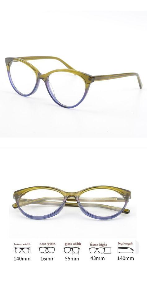 17526eb16b2 Women cat eye butterfly acetate optical myopia glasses frames branded  design for lady  frames  eyewear  accessories  plastic  titanium  women   patchwork ...