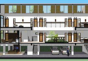 Sketsa Ruma Kos Modern 600 283 Rumah Desain Apartemen Rumah Minimalis