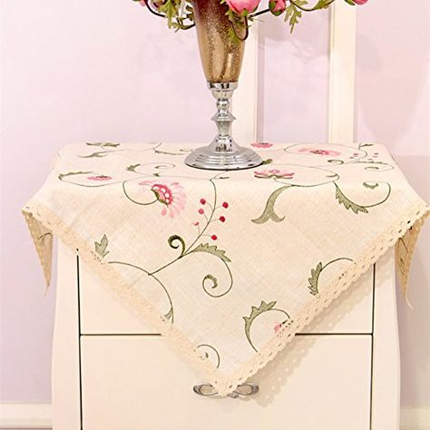 European Garden Embroidered Tablecloth Household Coffee
