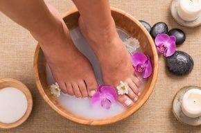 Aliviar a pés como inchados gravidez