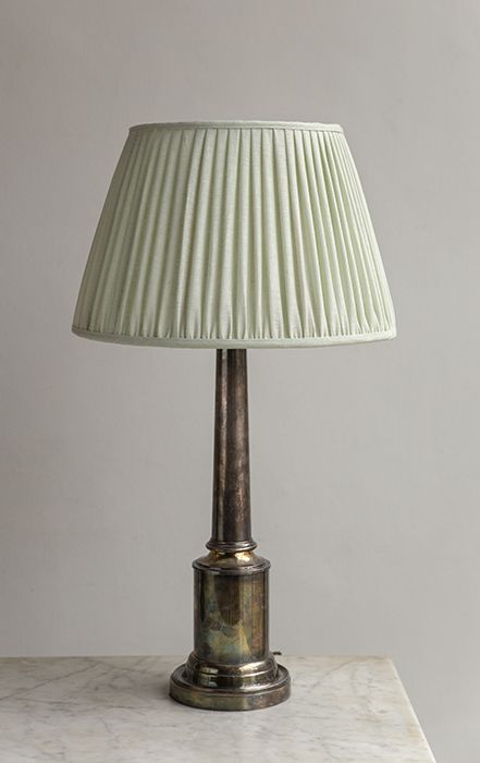 Fern Green Linen Lampshade Howe London In 2020 Pale Green Lampshades Pale