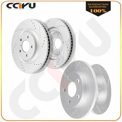 2006 2007 2008 For Chevrolet Impala Coated Front /& Rear Brake Rotors /& Pads