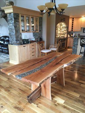 Custom Made A River Runs Through It Resin Furniture Live Edge