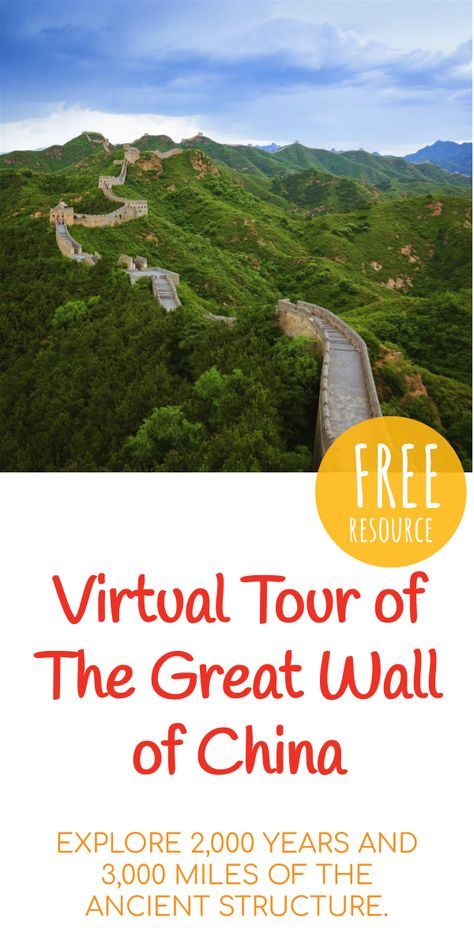 Great Wall of China Travel Guide & Tours Virtual Travel, Virtual Tour, Great Wall Of China, China Wall, China China, China Travel Guide, Space Tourism, Virtual Field Trips, Home Learning