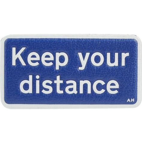 Anya Hindmarch Keep Your Distance Leather Sticker 59