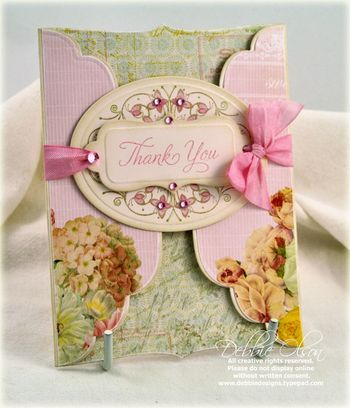 Card by Debbie Olson, Thank You, Paper Trey Ink
