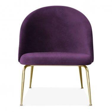 Heather Lounge Chair Velvet Upholstered Purple In 2019