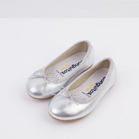 c0accd30285 Bailarinas de Niña Piel Plata - Ballerinas - Footwear - Girl - Conguitos