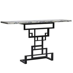 Puzzle Console Table Contemporary Metal Stone Console Table By Tom Faulkner With Images Console Table Table Bar Table